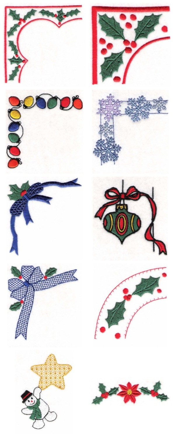 Christmas Borders Embroidery Machine Design Details