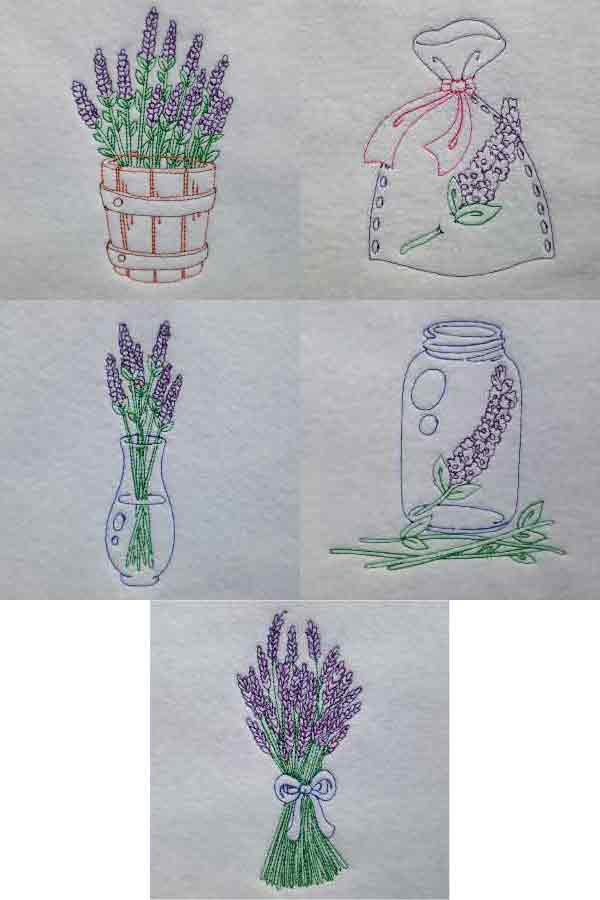 Colorline Lavender 2 Embroidery Machine Design Details