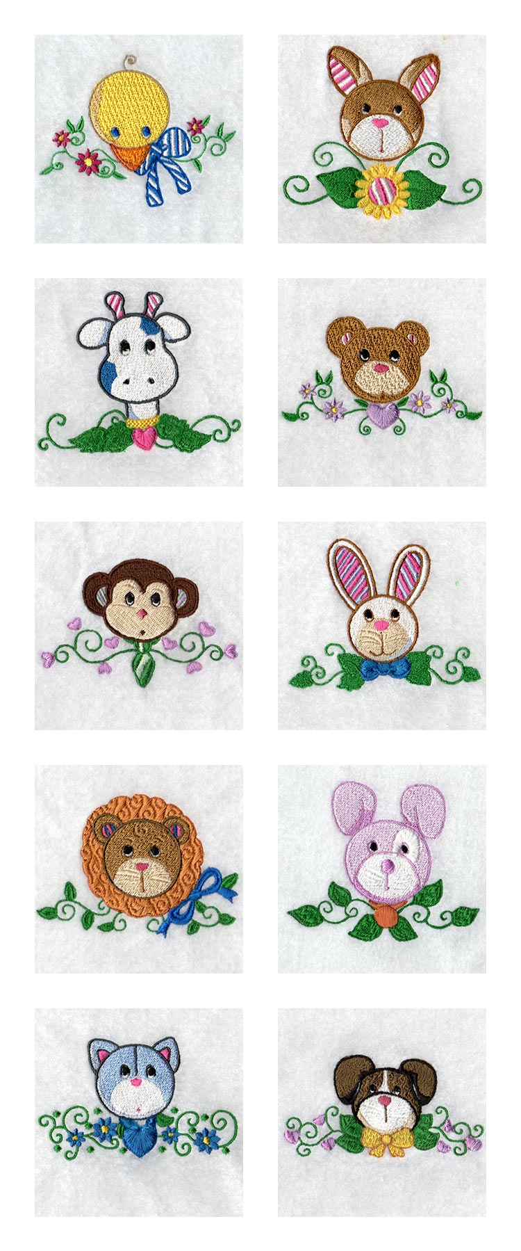 Country Friends Embroidery Machine Design Details