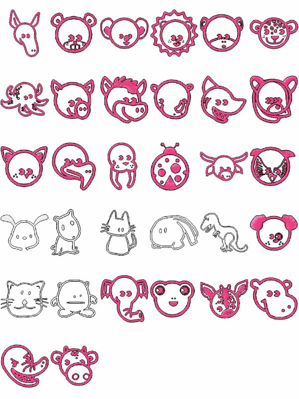 Cute Animals Embroidery Machine Design Details