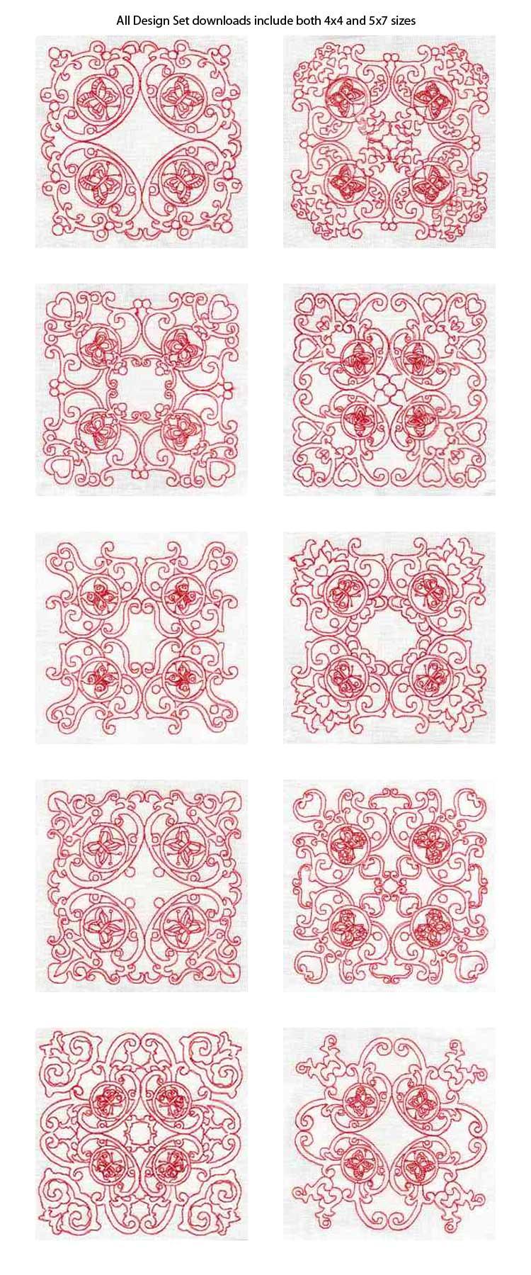 Delicate Quilt Blocks 2 Machine Embroidery Designs eBay