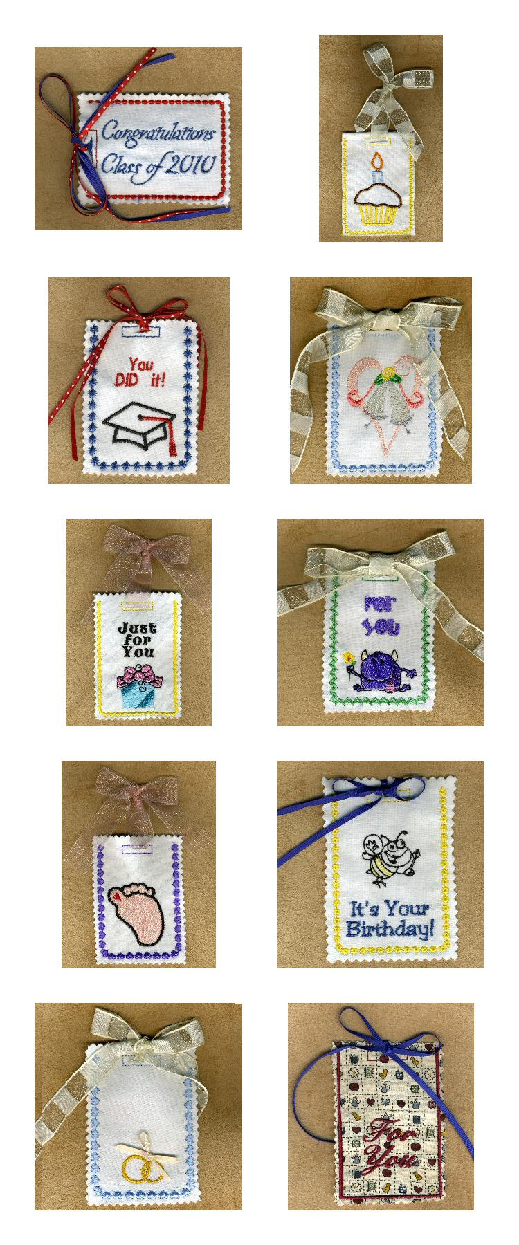 Easy Gift Card Holders Embroidery Machine Design Details