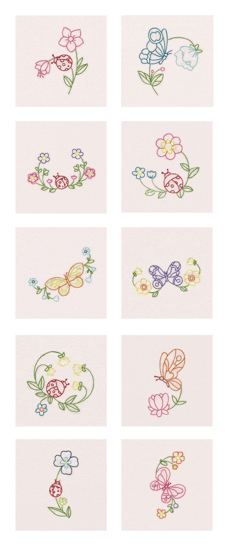 Fantastic Garden Colorlines Embroidery Machine Design Details