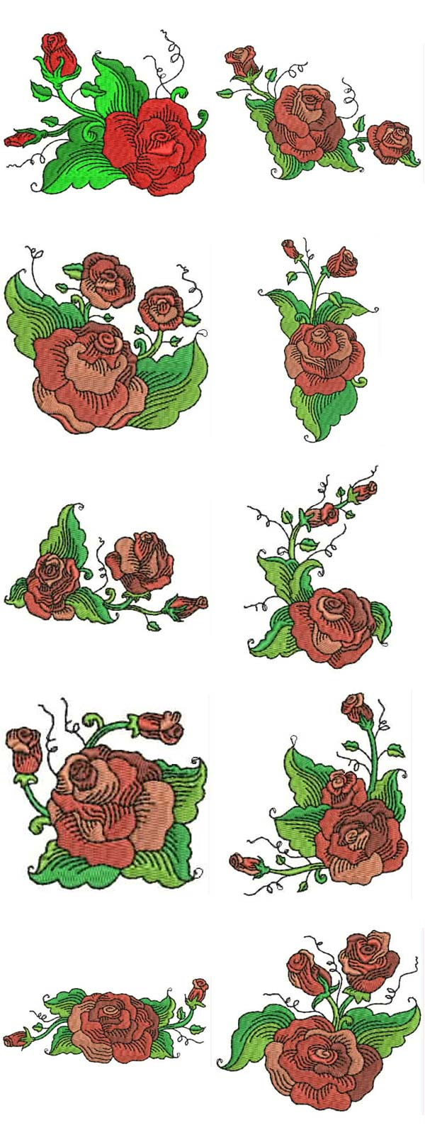 Free rose embroidery design « origami