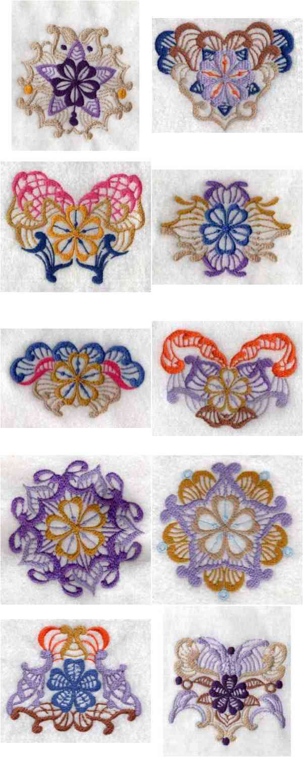 Fantasy Ornaments Embroidery Machine Design Details