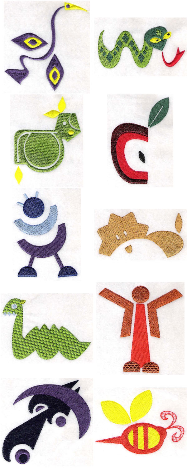 Fun Shapes Embroidery Machine Design Details