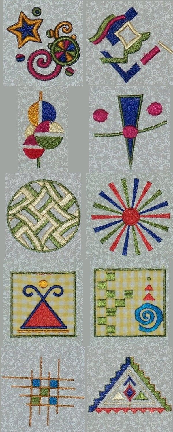 Geometrical Fantasy Embroidery Designs