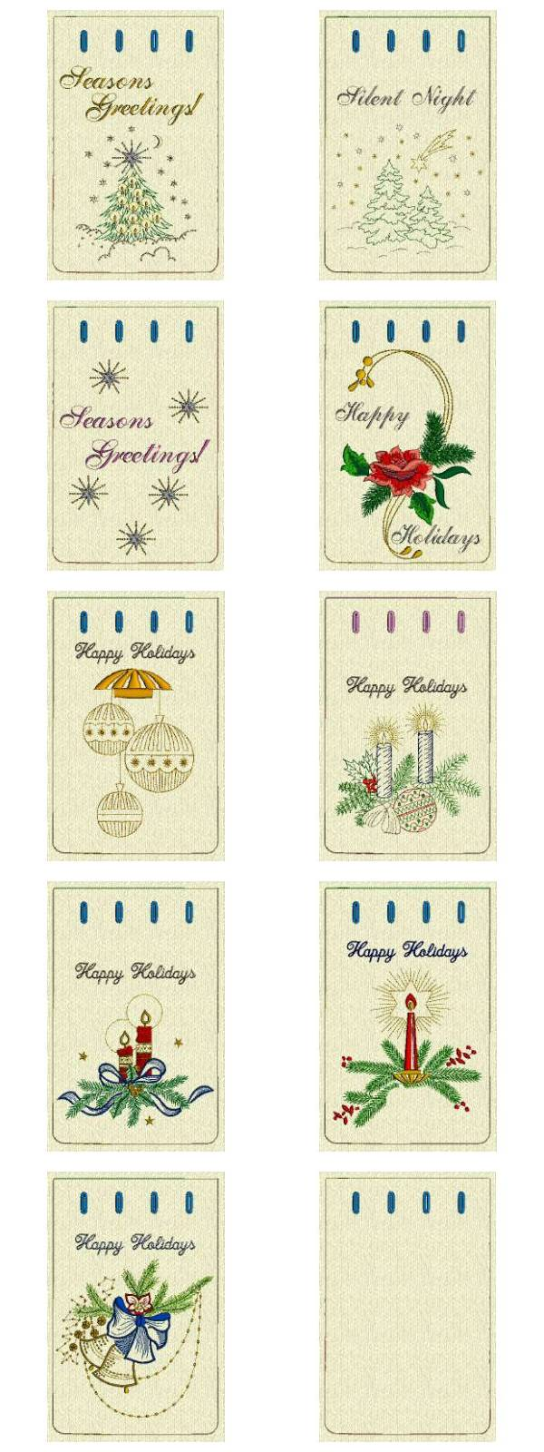 Christmas Gift Bags 3 Embroidery Machine Design Details