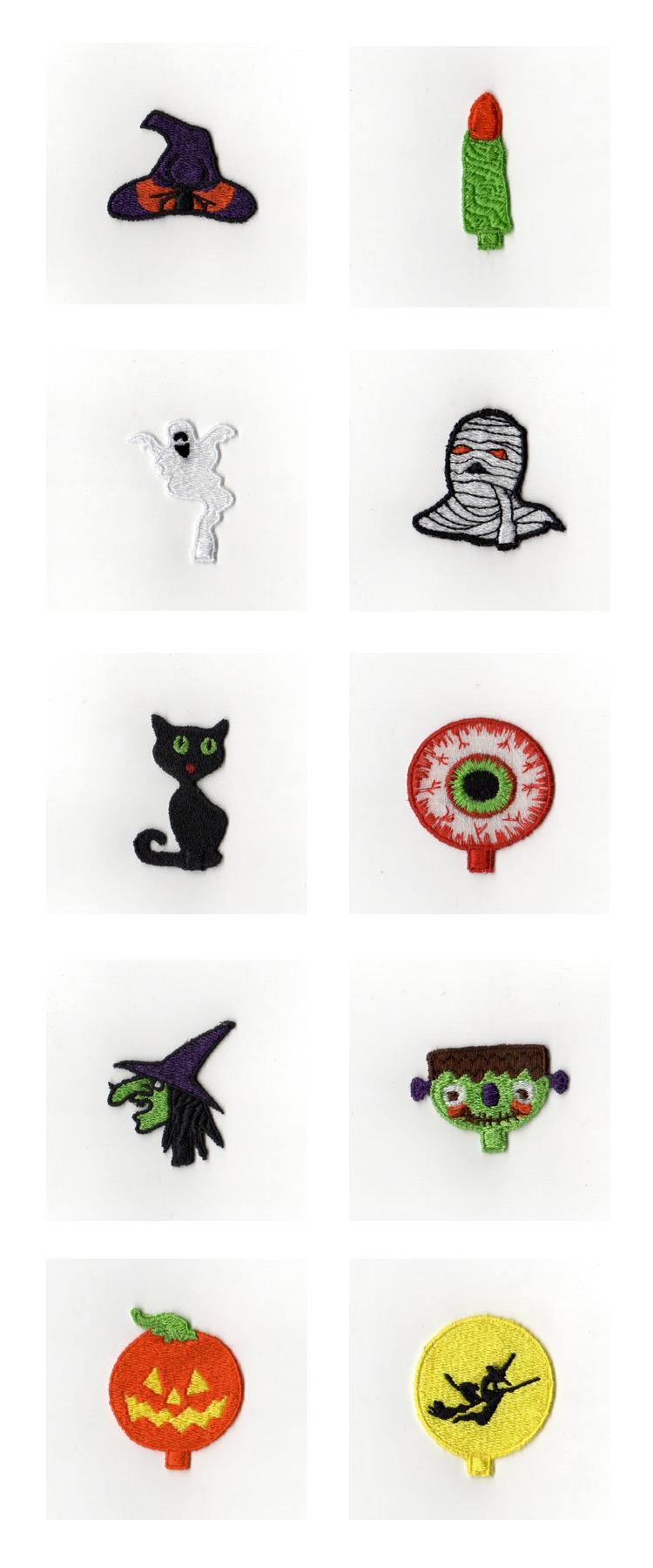 Halloween Cupcake Picks Embroidery Machine Design Details