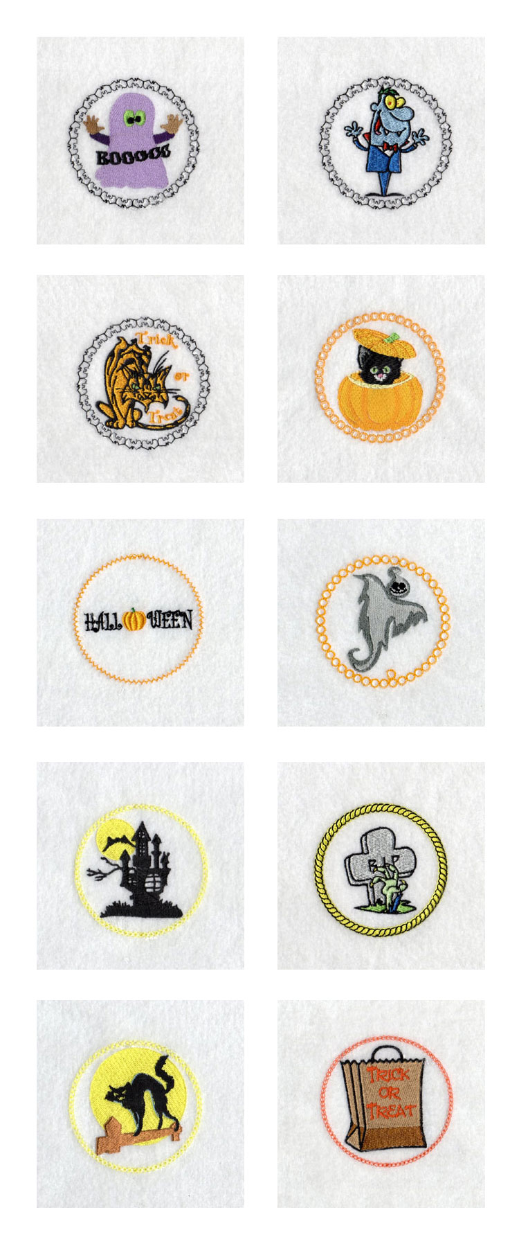 Halloween Jar Covers Embroidery Machine Design Details