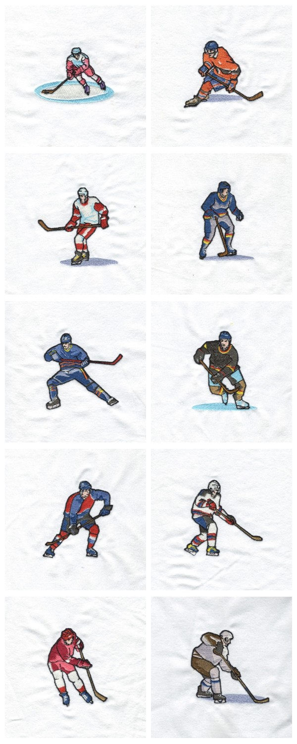 Hockey Players Embroidery Machine Design Details