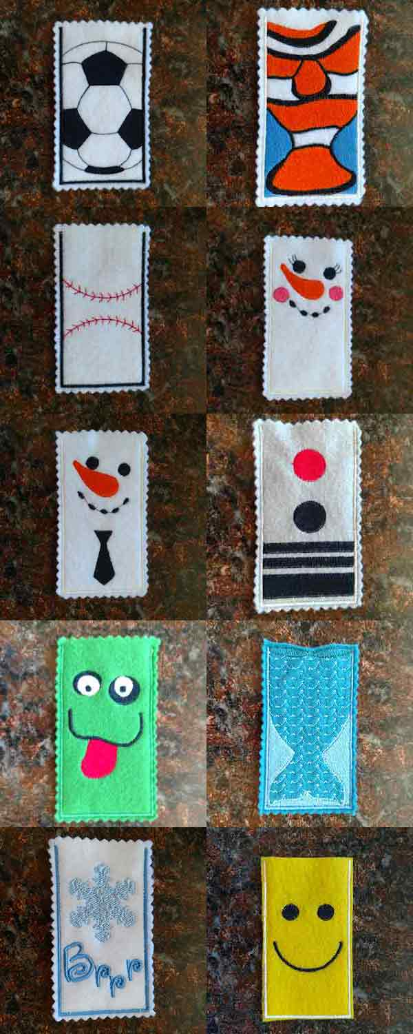 Ice Pop Holders Embroidery Machine Design Details