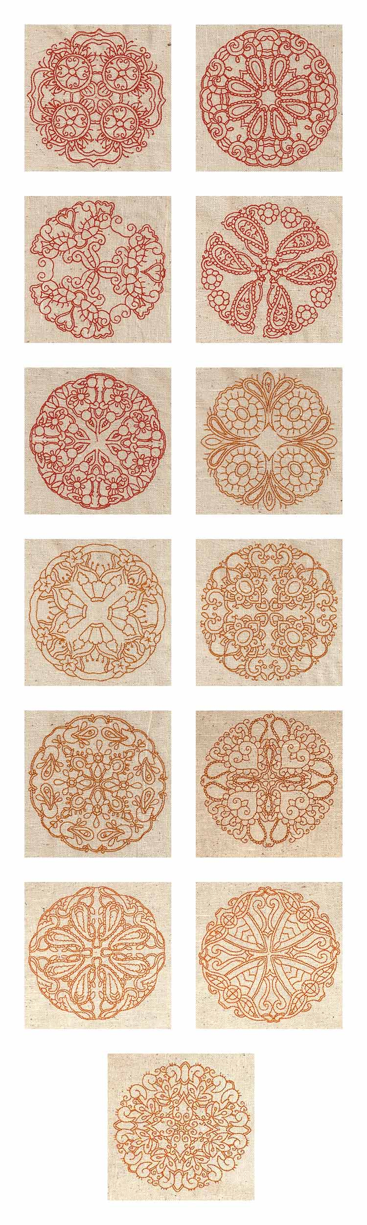 Indian Circles Embroidery Machine Design Details