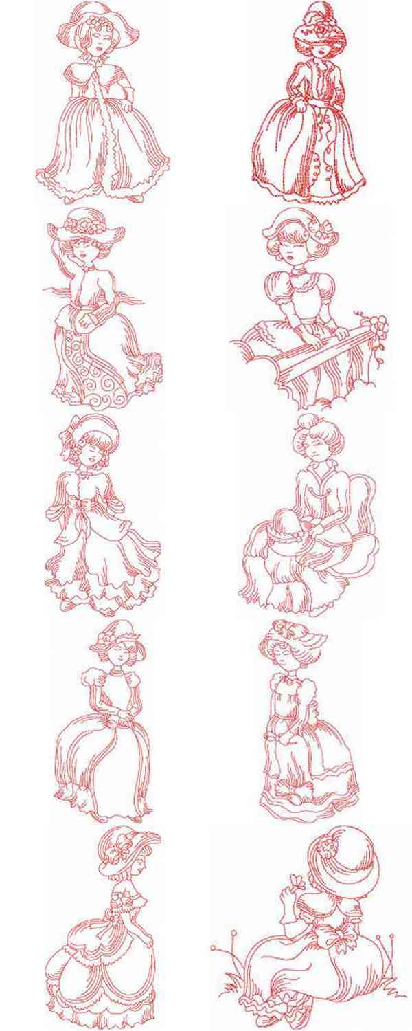 VICTORIAN EMBROIDERY DESIGNS
