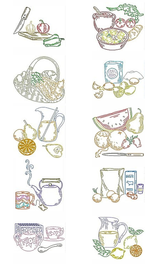 Embroidery designs for kitchen towels best