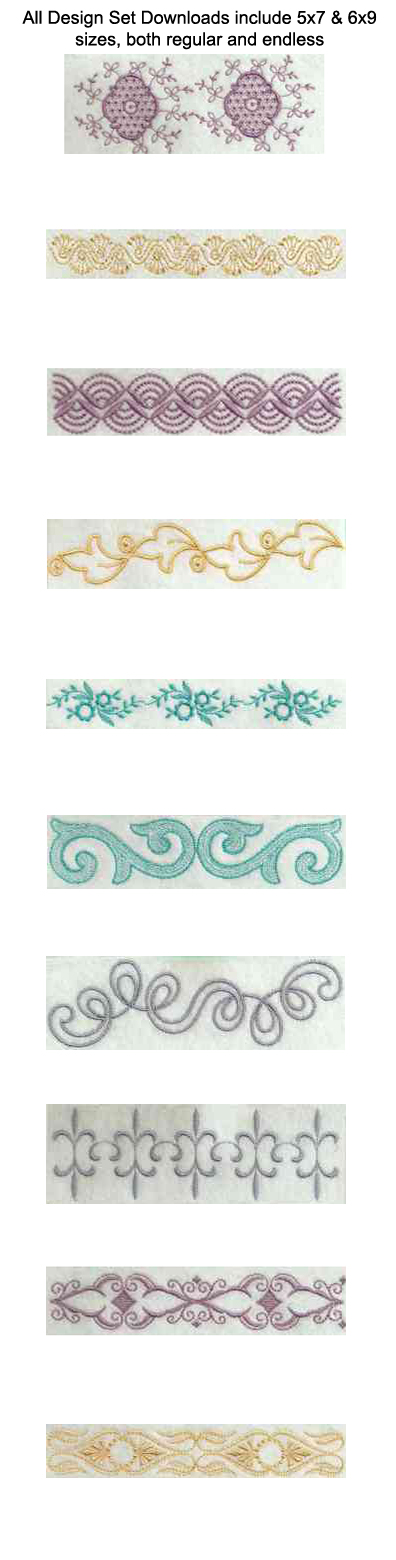 Linen Bleu 1 Embroidery Machine Design Details