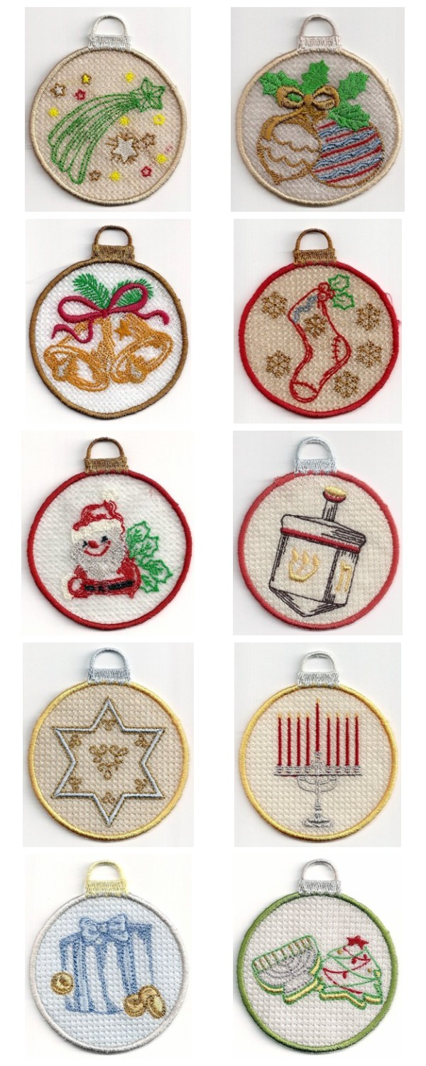 More FSL Ornaments Embroidery Machine Design Details