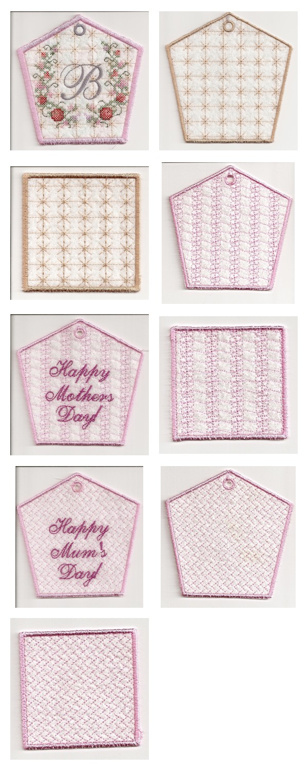 Mothers Day Boxes Embroidery Machine Design Details