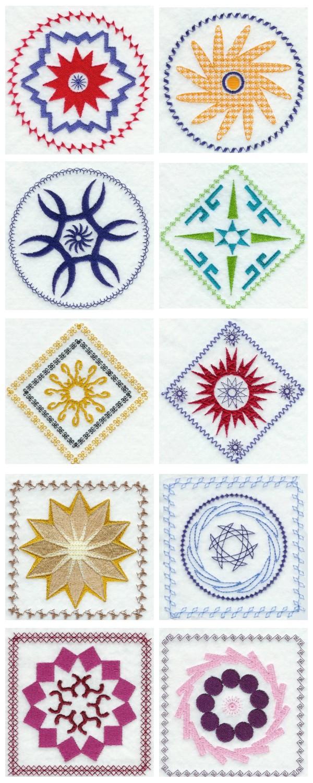 Nouveau Quilt Blocks Machine Embroidery Designs eBay