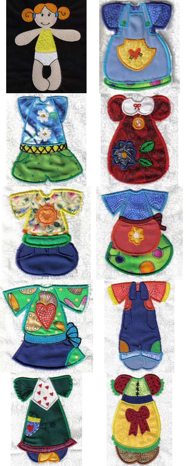 "Project Gallery - ""Paper"" Dolls - Embroidery Designs, Embroidery"
