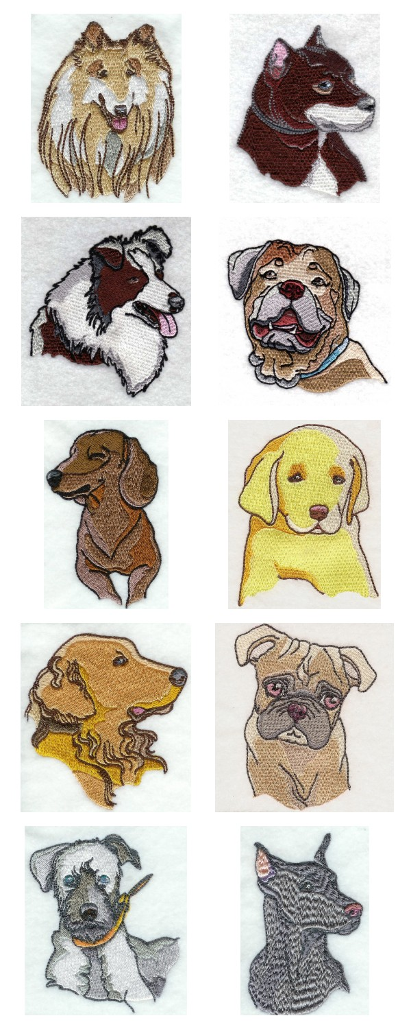 DOG MACHINE EMBROIDERY DESIGNS