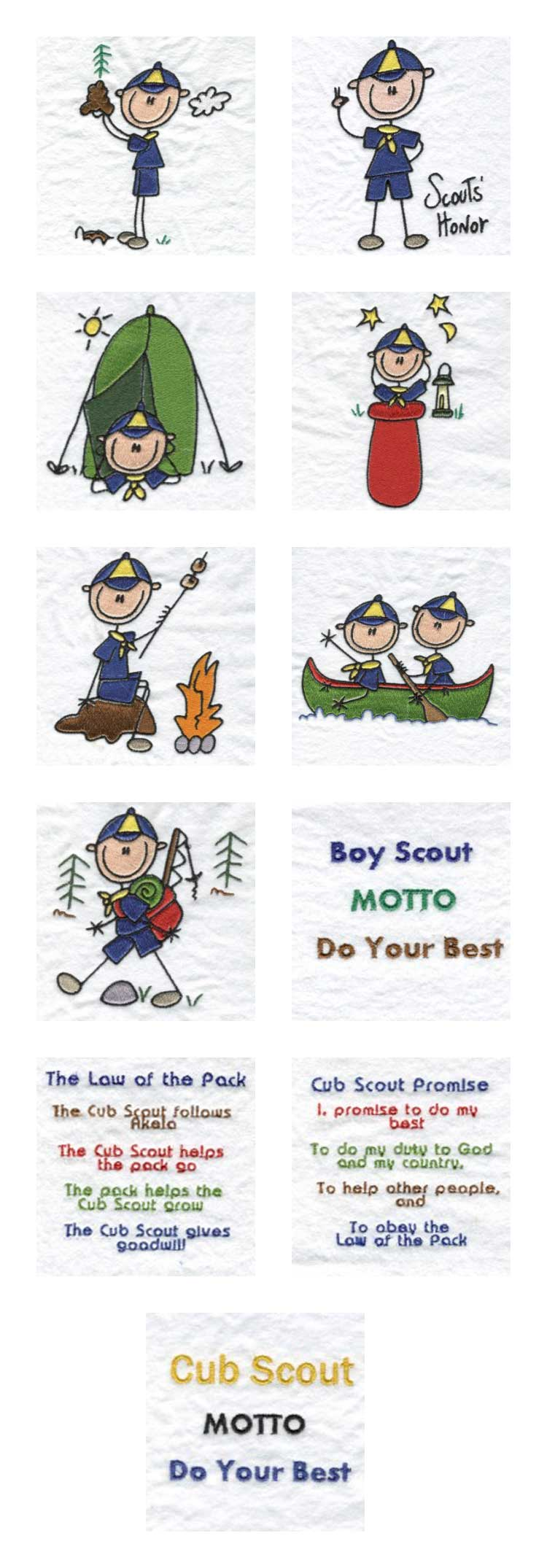 Cub Scouts Embroidery Machine Design Details