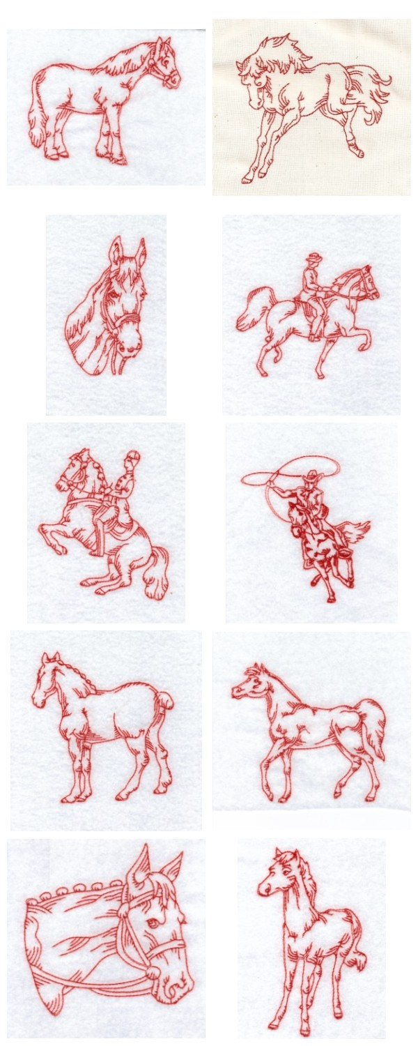 FREE HORSE EMBROIDERY DESIGNS