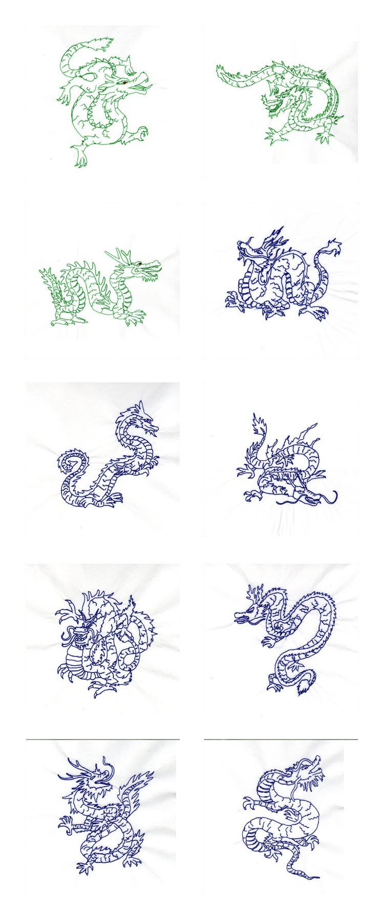 Redwork Year of the Dragon Embroidery Machine Design Details