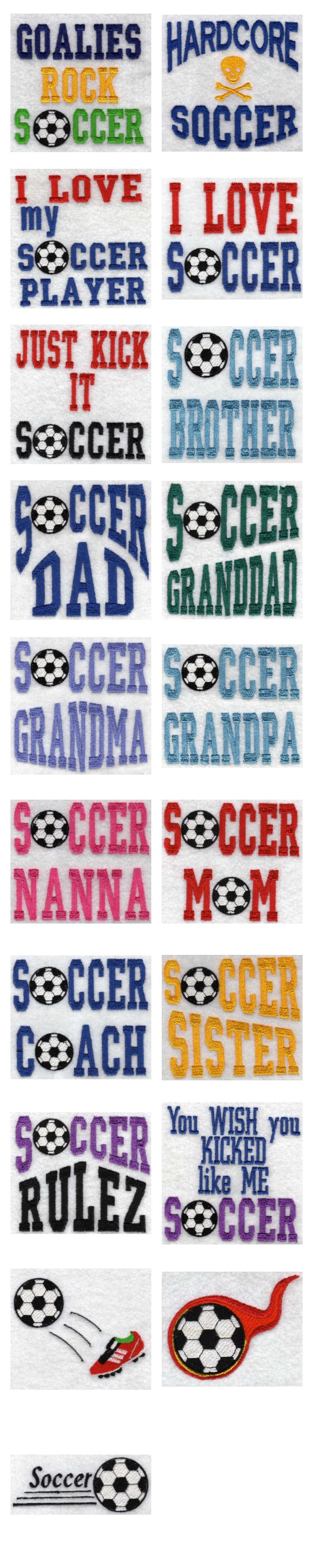 Soccer Embroidery Machine Design Details