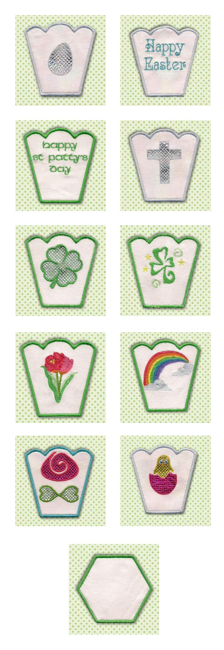 Spring Bowls Embroidery Machine Design Details