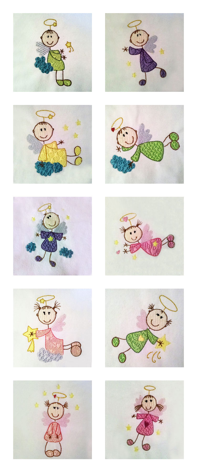 Sticky Angels Embroidery Machine Design Details