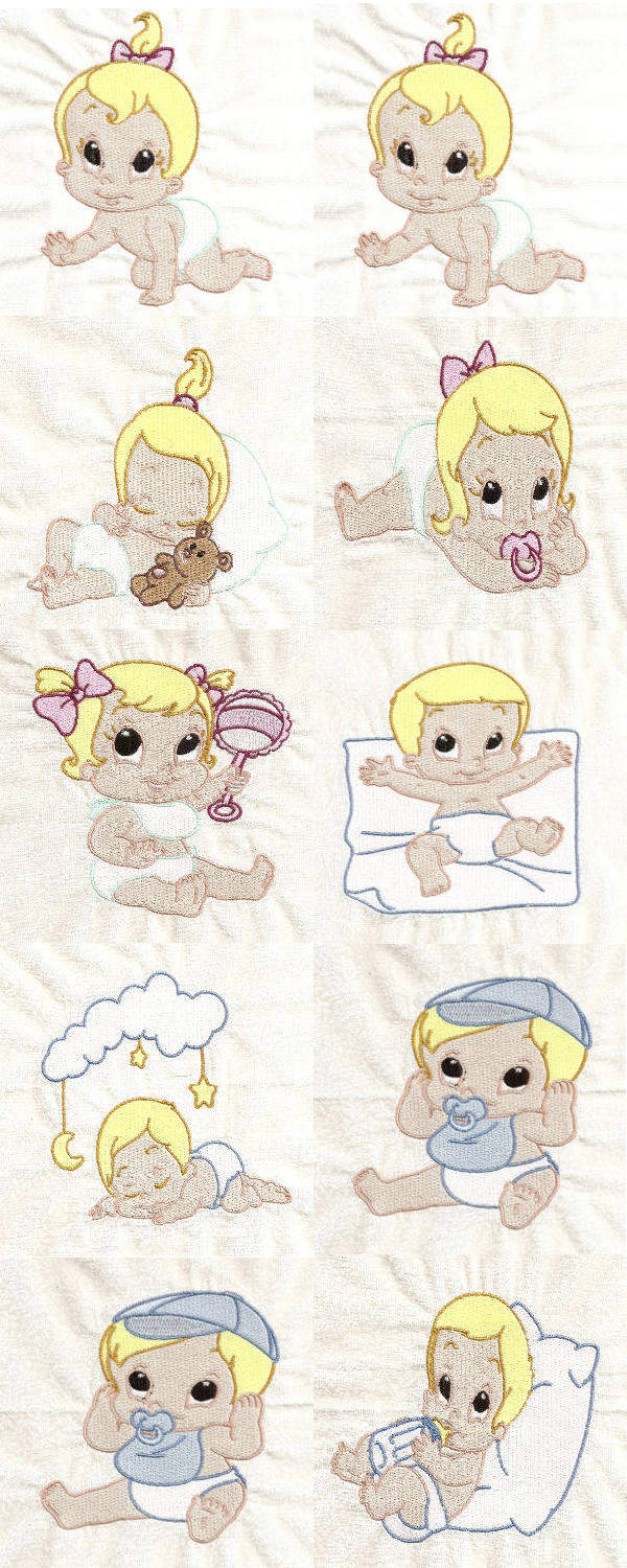 Sweet Little Babies Embroidery Machine Design Details