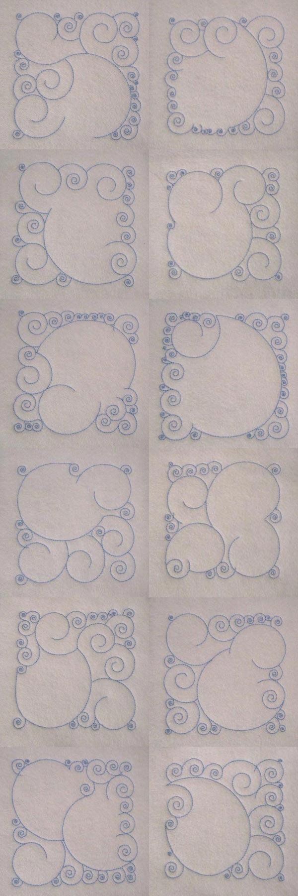 Swirly Square Background Blocks Embroidery Machine Design Details