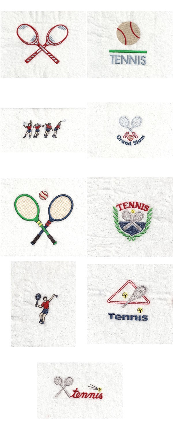 Tennis Embroidery Machine Design Details