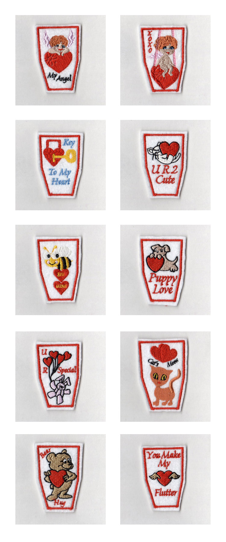 Valentine Pencil Toppers Embroidery Machine Design Details