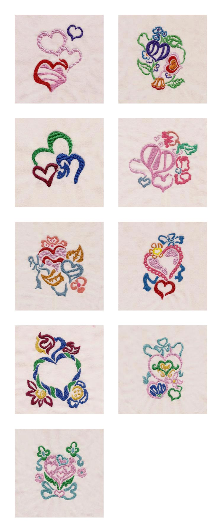 Free valentine embroidery designs « origami