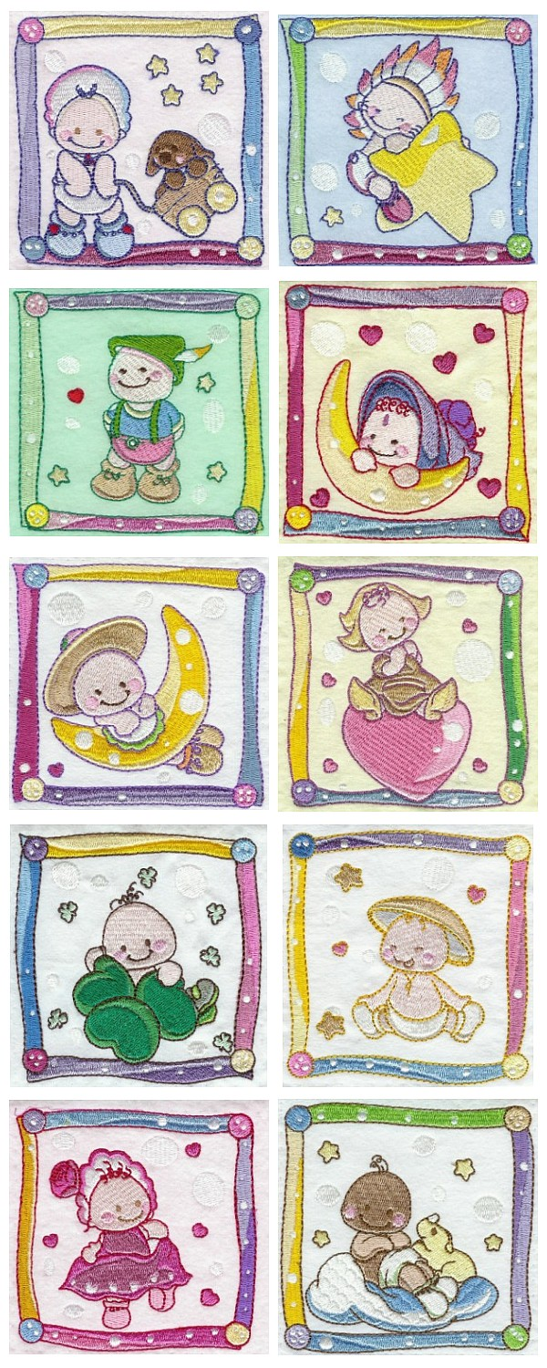 MACHINE EMBROIDERY BABY DESIGNS