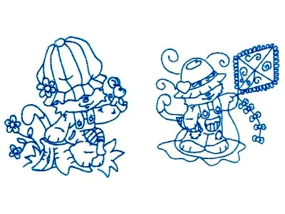 BW Kitties Embroidery Machine Design
