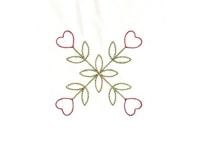 Country Heart Quilt Blocks Embroidery Machine Design