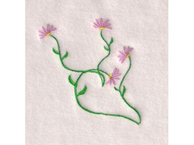 Machine Embroidery Designs Floral Swirls Set