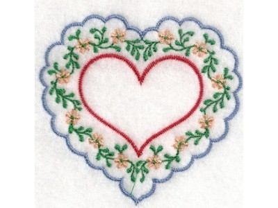 Hearts of Love 2 Embroidery Machine Design