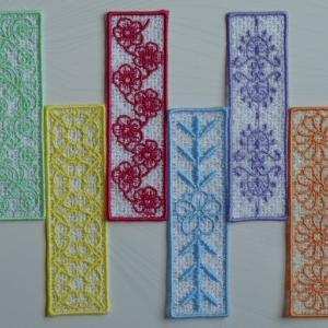 FSL Floral Bookmarks Embroidery Machine Design