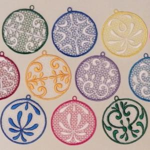 FSL Frosted Ornaments Embroidery Machine Design