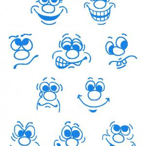 Funny Faces Embroidery Machine Design
