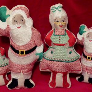 Mr Mrs Claus Dolls I T H Embroidery Machine Design