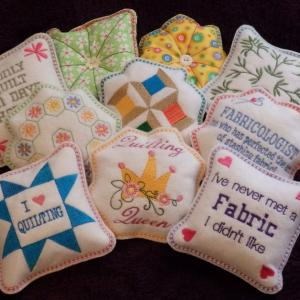 Quilters Pincushions Embroidery Machine Design