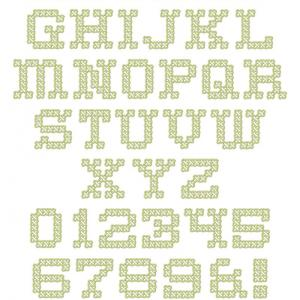Vintage Cross Stitch Look Font
