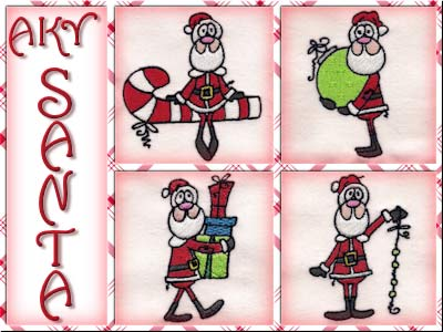 A Kids View of Santa Embroidery Machine Design