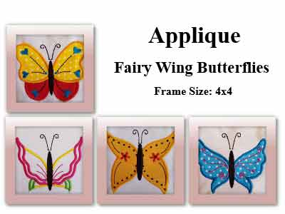 Applique Fairy Wing Butterflies