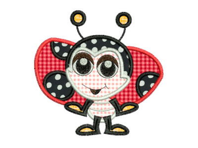 Applique Ladybugs Embroidery Machine Design